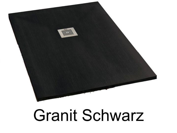 duschwanne longueur 110 duschwanne 110 cm geringe gr e und ultraflach harz granit farbe. Black Bedroom Furniture Sets. Home Design Ideas