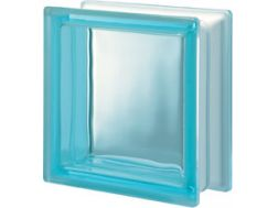 Glasblock, transparenter Block - Glatt - ACQUAMARINA Q19 T Pegasus 20 x 20