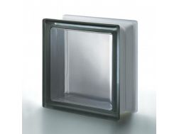 Glasblock, transparenter Block - Satin glatt - NORDICA Q19 T SAT 1 LATO Pegasus 20 x 20