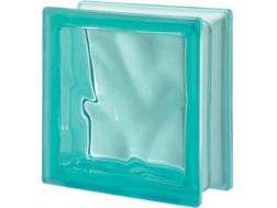 Glasblock, transparenter Block - gewellt - TURCHESE Q19 O Pegasus 20 x 20