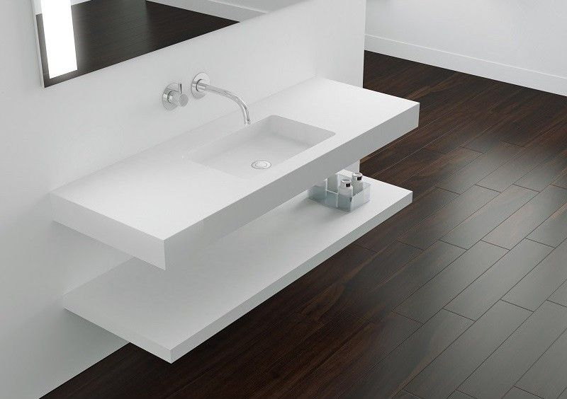 Waschtischplatte mit integriertem Waschtisch, Breite 50 x 80 ...