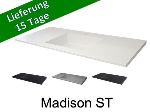 Waschtischplatte mit integriertem Waschtisch, Breite 50 x 180 cm ...