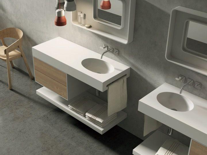 Doppeloval Waschtisch Waschbecken 120 X 46 Cm Solidsurface Typ