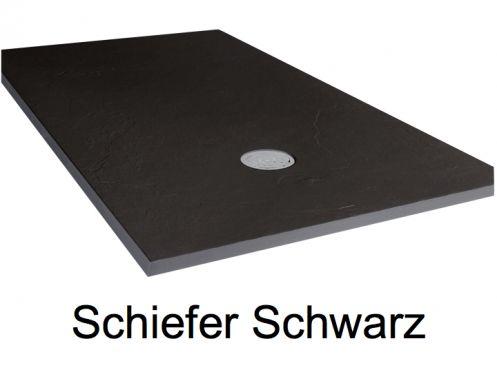 duschwanne longueur 120 duschwanne 120 cm ultraflach schiefer effekt farbe schwarz. Black Bedroom Furniture Sets. Home Design Ideas