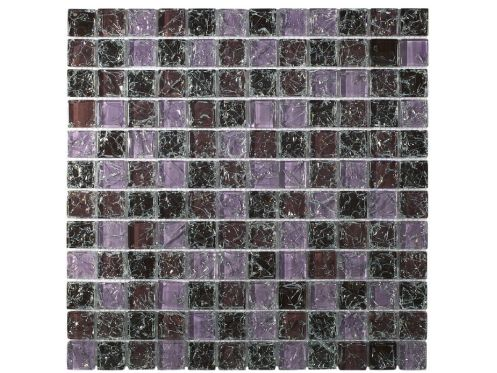 CRA012 -Crackle Glas, Mosaik Glasfliese 30x30 cm. Acqualine