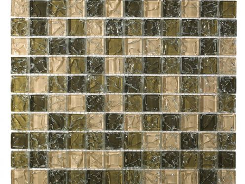 CRA011 - Crackle Glas, Mosaik Glasfliese 30x30 cm. Acqualine