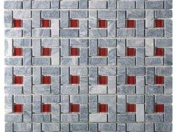 Fliesen dekorative mosaik badezimmer design baddekore for Badezimmer grau rot