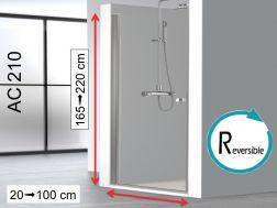 duschabstrennung 60 cm verkauf von duschabstrennungen 60x180 60x185 60x190 60x195 60x200. Black Bedroom Furniture Sets. Home Design Ideas