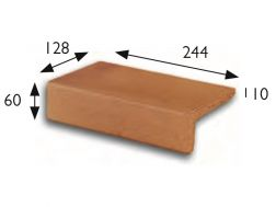 25x13 Natural Treppenlauffl�che, Pool Coping, Feinsteinzeug  - Gr�s Aragon