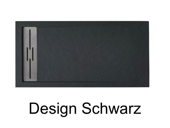 duschwanne longueur 150 duschwanne 150 cm harz matt steineffek desing extra flach gro format. Black Bedroom Furniture Sets. Home Design Ideas