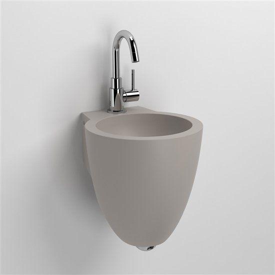 Badm bel waschbecken handwaschbecken lave mains waschbecken beton grau design 27 cm flush - Wandgehangtes waschbecken beton trendiges design ...