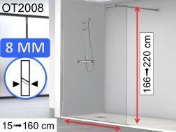 Duschwand / Duschtür 70 cm - 70 x 180 - 70 x 185 - 70 x 190 - 70 x ...