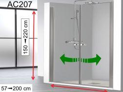 Duschwand / Duschtür 70 cm - 70 x 180 - 70 x 185 - 70 x 190 ...