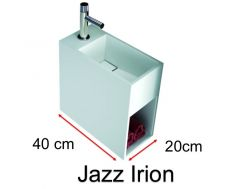 Handwashbasin, Solid Surface mineral resin, Corian type - JAZZ IRION I.