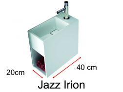 Handwashbasin, Solid Surface mineral resin, Corian type - JAZZ IRION R.