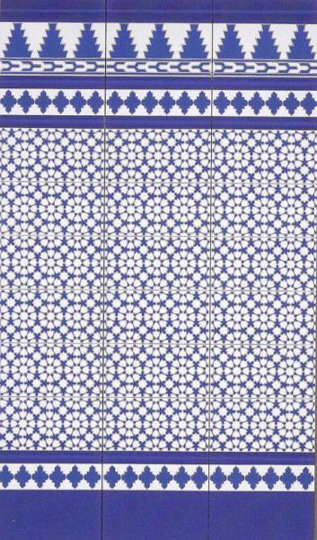 carrelages mosa ques et galets oriental fatima azul 14x28 cm carrelage fa ence au style. Black Bedroom Furniture Sets. Home Design Ideas