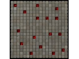 Carbon Glass red Scarlett Mosaik Blatt 30,5x30,5 cm, Boxer.