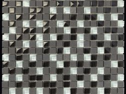 Carbon Glass Mix Mosaik Blatt 30,5x30,5 cm, Boxer.