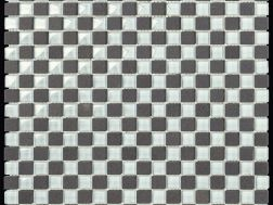 Carbon Glass White Mosaik Blatt 30,5x30,5 cm, Boxer.
