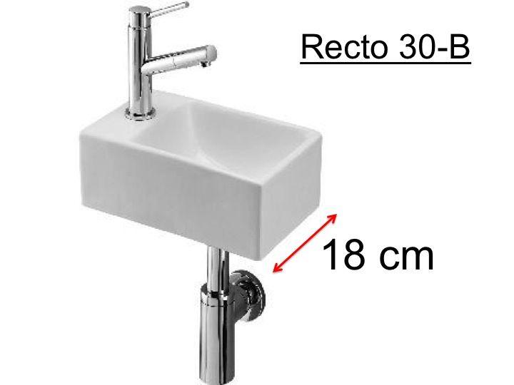 Waschbecken Wc Keramik Tiefe 18 Cm Recto 30 B Benesan