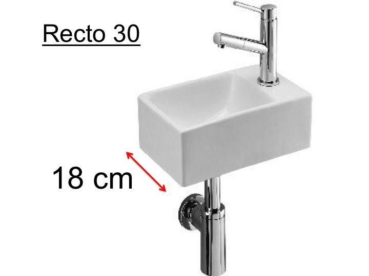 Waschbecken Wc Keramik Tiefe 18 Cm Montage Rechts Recto 30 Benesan