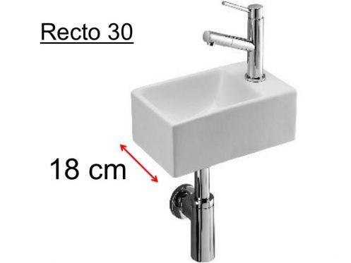 badm bel waschbecken handwaschbecken lave mains waschbecken wc keramik tiefe 18 cm. Black Bedroom Furniture Sets. Home Design Ideas