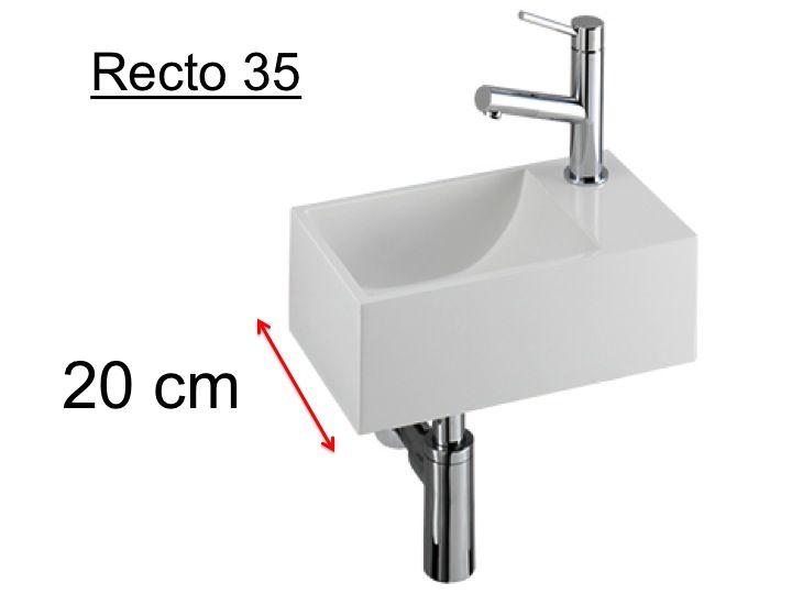 badmöbel  waschbecken  handwaschbecken lavemains  ~ Waschbeckentiefe