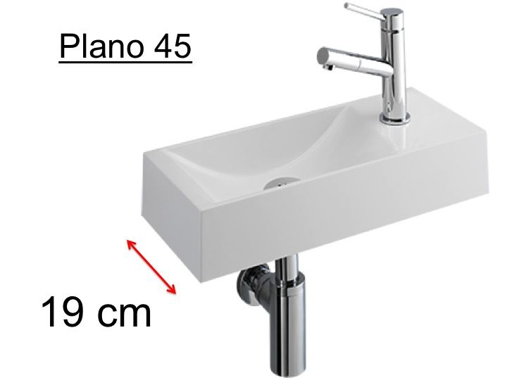 badm bel waschbecken handwaschbecken lave mains h ndewaschen schmale design waschbecken. Black Bedroom Furniture Sets. Home Design Ideas