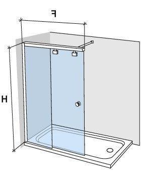 duschabtrennungen largeur 120 duschwand 120 cm schiebet ren befestigungs links h he 180. Black Bedroom Furniture Sets. Home Design Ideas