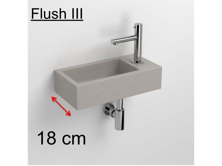badm bel waschbecken handwaschbecken lave mains handwaschbecken beton grau 18 flush 3. Black Bedroom Furniture Sets. Home Design Ideas