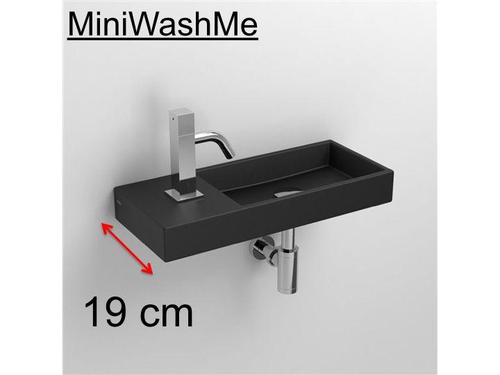 badm bel waschbecken handwaschbecken lave mains waschbecken aus keramik schwarz matt 19 cm. Black Bedroom Furniture Sets. Home Design Ideas