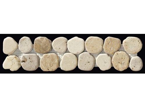 Taro Galet Beige   Naturstein Bordüre Mosaik