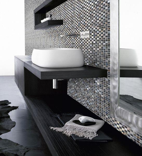 pflastersteine bricks von gl sern mosa ques et galets tiffany black mosaik blatt 30x30 cm. Black Bedroom Furniture Sets. Home Design Ideas