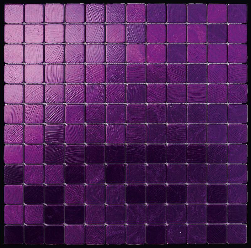 Alubond/25 Viola, Fliesen Mosaik Edelstahl. Boxer