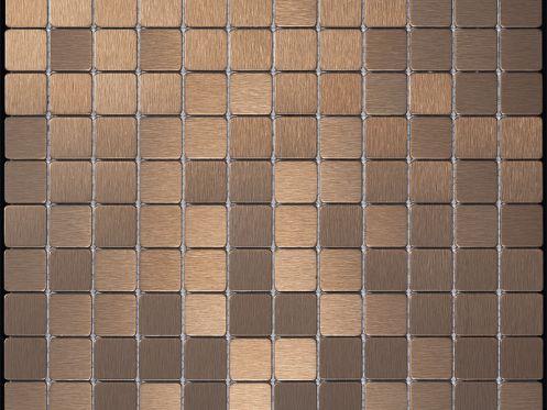 Pflastersteine bricks von gl sern mosa ques et galets alubond 25 bronzo fliesen mosaik - Mosaik fliesen grun ...