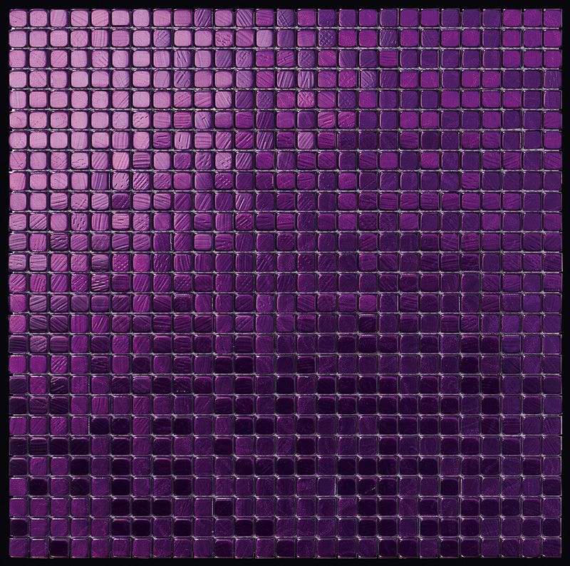 Alubond/10 Viola, Fliesen Mosaik Edelstahl. Boxer