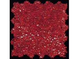 Mini Glass Rosso, Mosaik Glasfliese 30x30 cm. Boxer